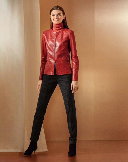 Leather Juno Jacket and Cuffed Clinton Pant