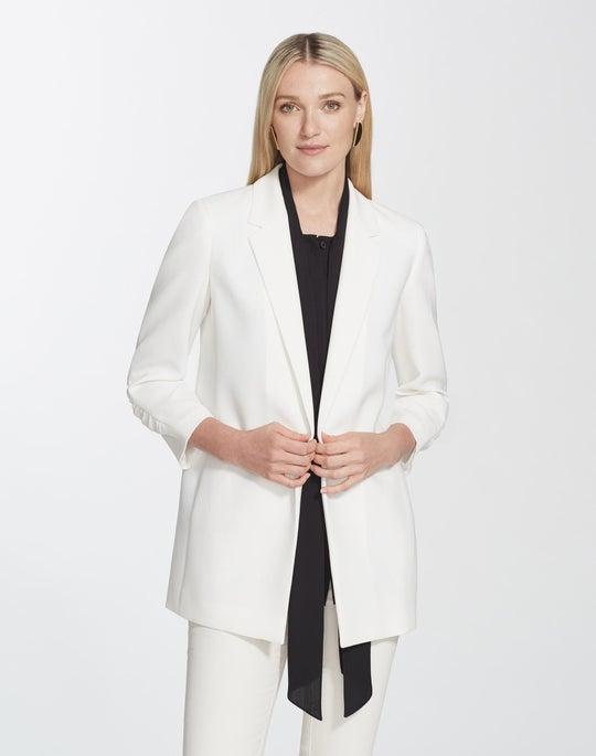 Plus-Size Finesse Crepe Cole Jacket