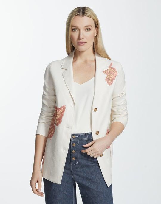 Lavish Linen Embellished Coleman Jacket