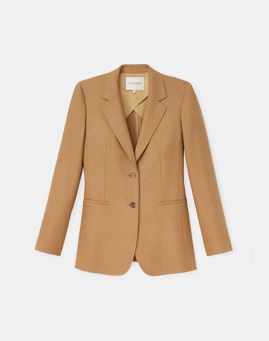 Plus-Size William Blazer In Italian KindWool Suiting