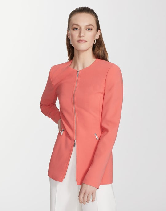Plus-Size Finesse Crepe Roger Jacket