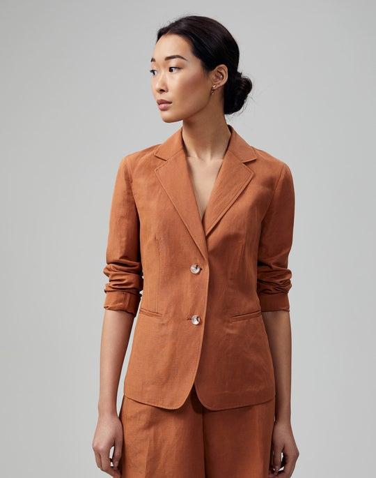 Petite Coastal Cloth Fitz Blazer