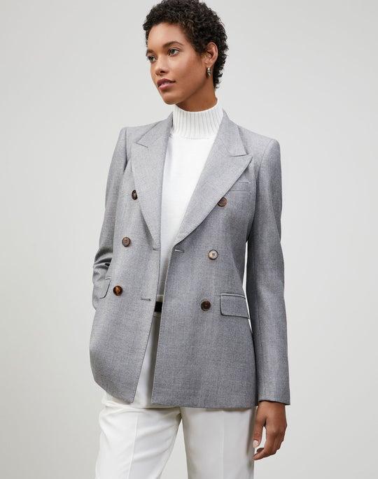 Italian Wool-Silk Suiting Chadwick Blazer