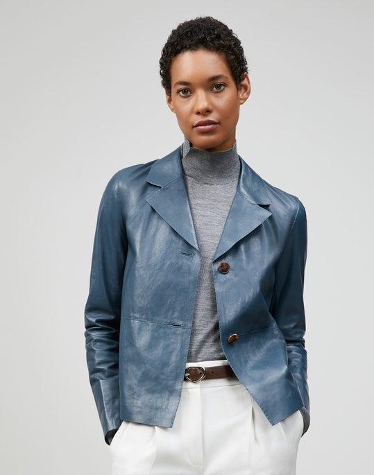 Glazed Weightless Lambskin Andover Jacket