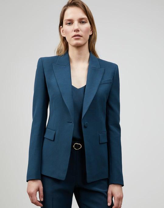 Plus-Size Finesse Crepe Sloan Blazer