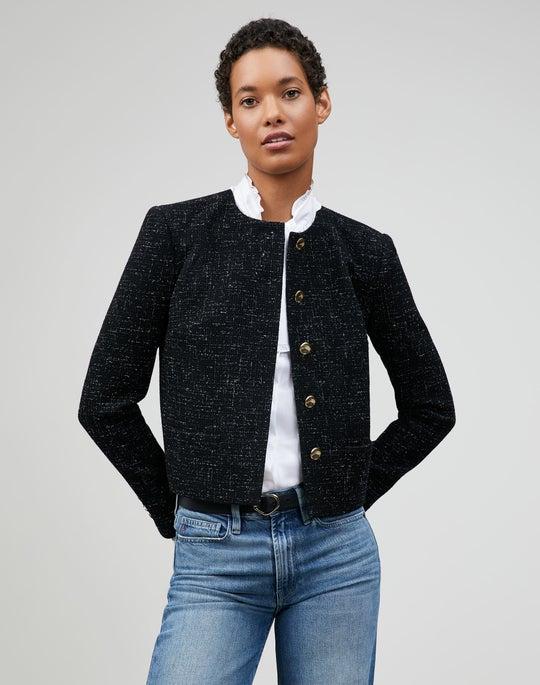 Flecked Italian Crepe Weave  Kade Jacket