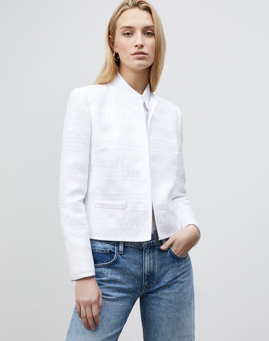 Kade Jacket In Mixed Stitch Tweed