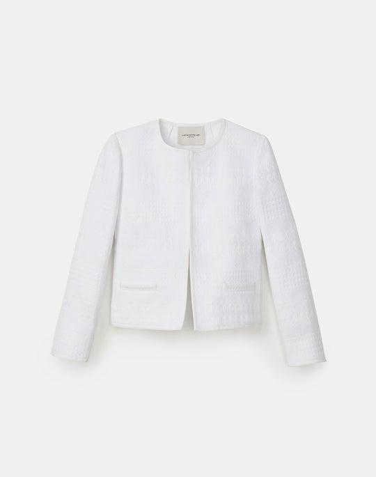 Petite Kade Jacket In Mixed Stitch Tweed