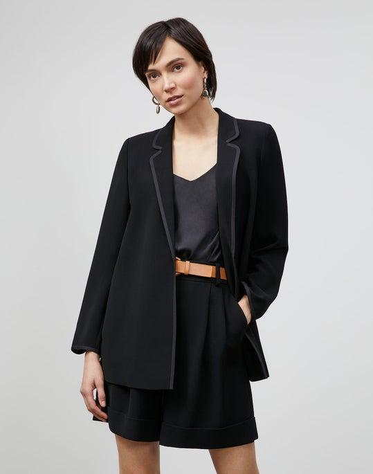Plus-Size Brighton Cardigan Jacket In Finesse Crepe