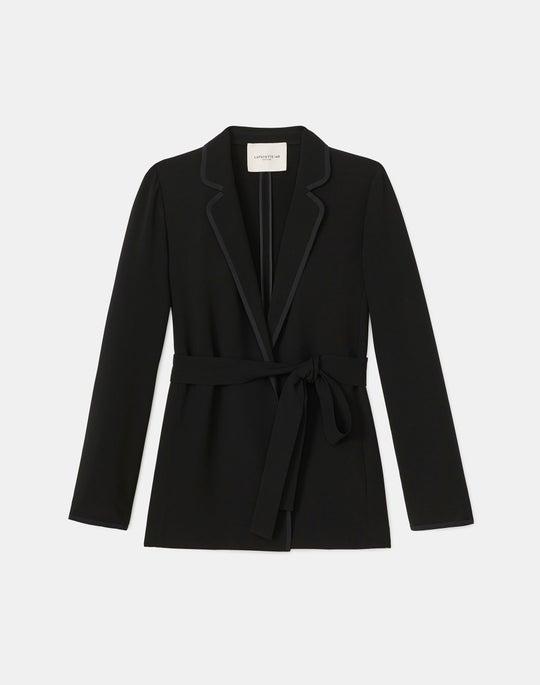 Brighton Cardigan Jacket In Finesse Crepe