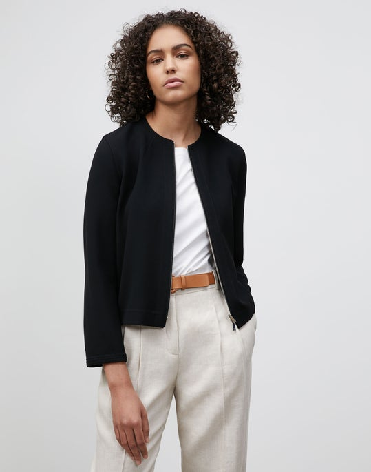 Plus-Size Griffith Jacket In Finesse Crepe