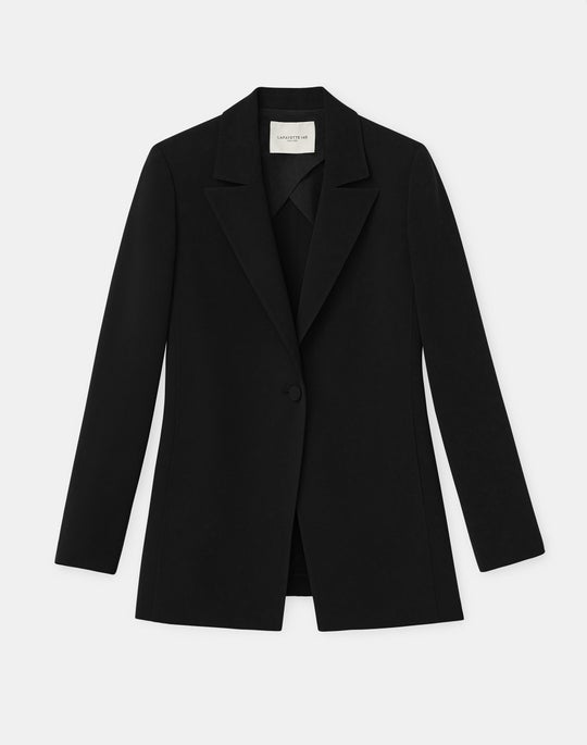 Plus-Size Steele Blazer In Finesse Crepe
