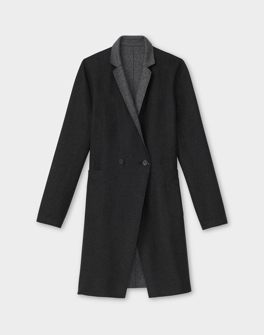 Holmes Reversible Jacket In Italian Double Face Wool-Cashmere