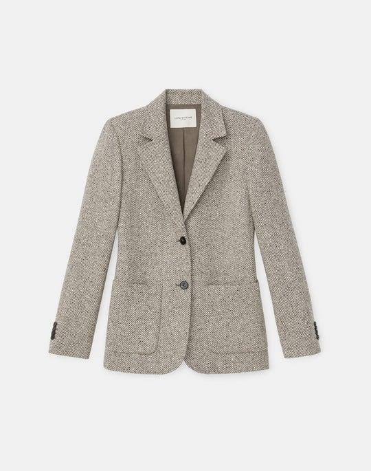 Benson Blazer In Italian Herringbone Wool