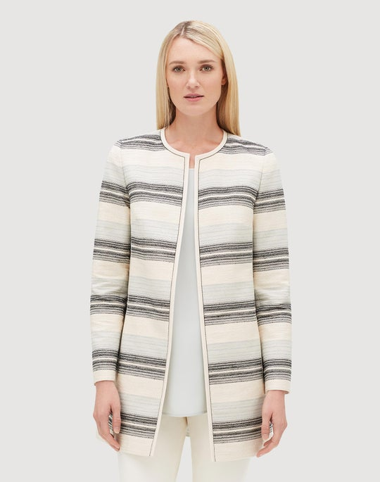 b1657c86e049 Petite Pavilion Stripe Jacquard Pria Jacket