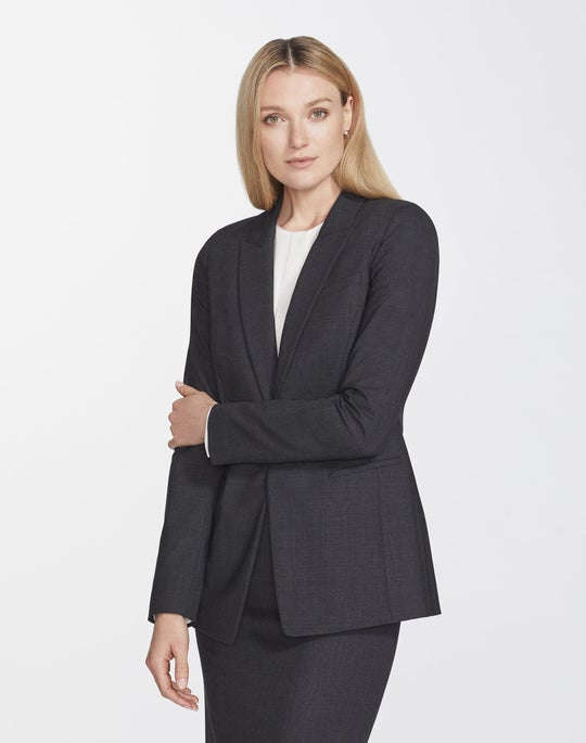 Plus-Size Italian Stretch Wool Harvey Blazer