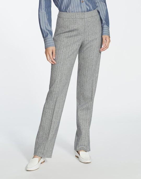 Plus-Size Speckled Herringbone Barrow Pant