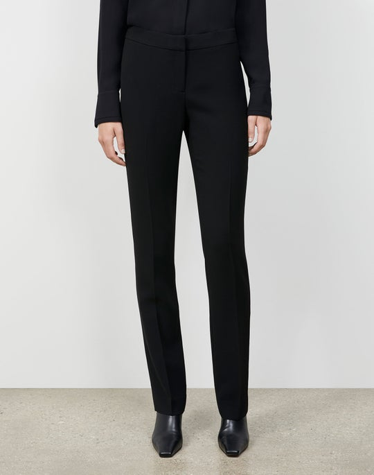 Plus-Size Finesse Crepe Barrow Pant