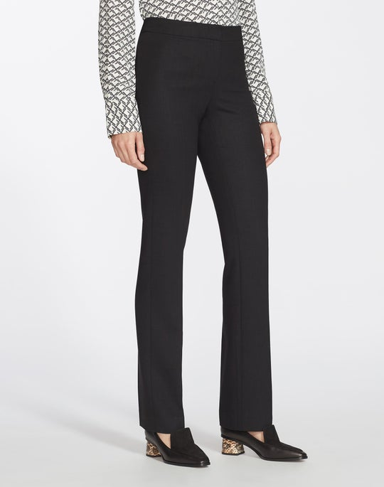 Plus-Size Luxe Italian Double-Face Barrow Pant