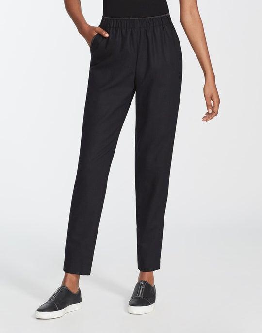 Plus-Size Finite Italian Flannel Track Pant