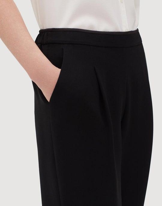 Plus-Size Finesse Crepe Soho Track Pant