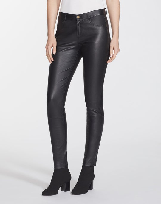 Petite Silky Stretch Nappa Mercer Pant