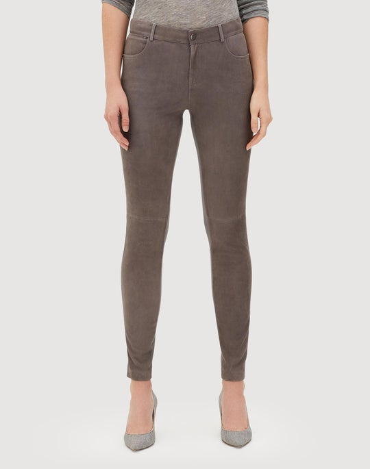 Plus-Size Lush Lambsuede Front Mercer Pant