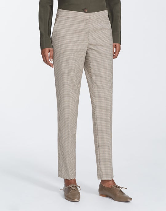 Navigator Micro Check Manhattan Slim Pant