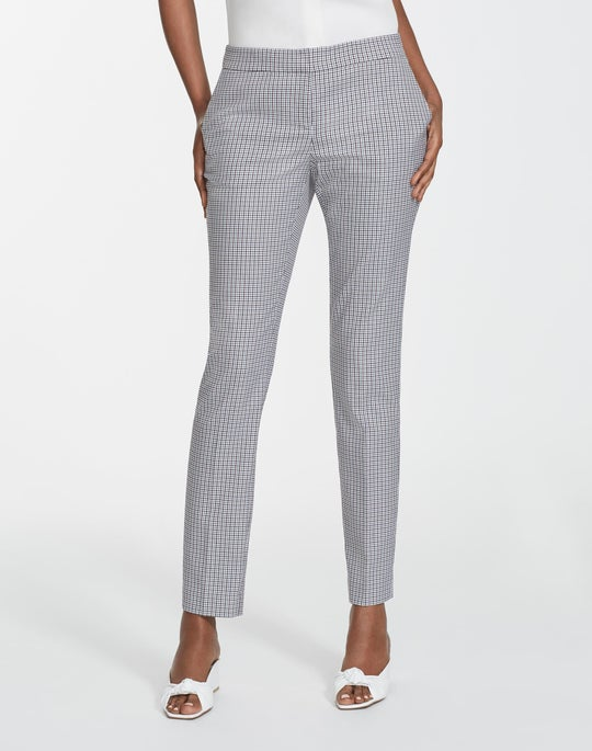 Tattersall Mini Check Manhattan Slim Pant