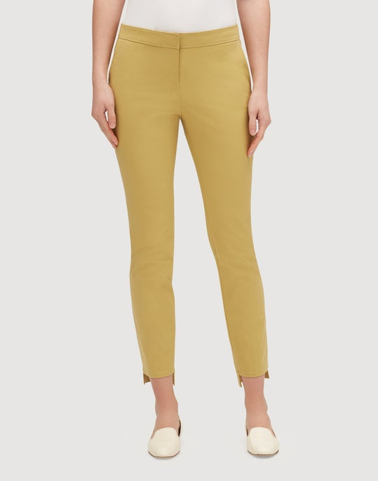 Plus-Size Fundamental Bi-Stretch Step Hem Manhattan Slim Pant
