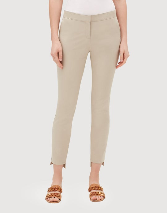 Petite Fundamental Bi-Stretch Step Hem Manhattan Slim Pant