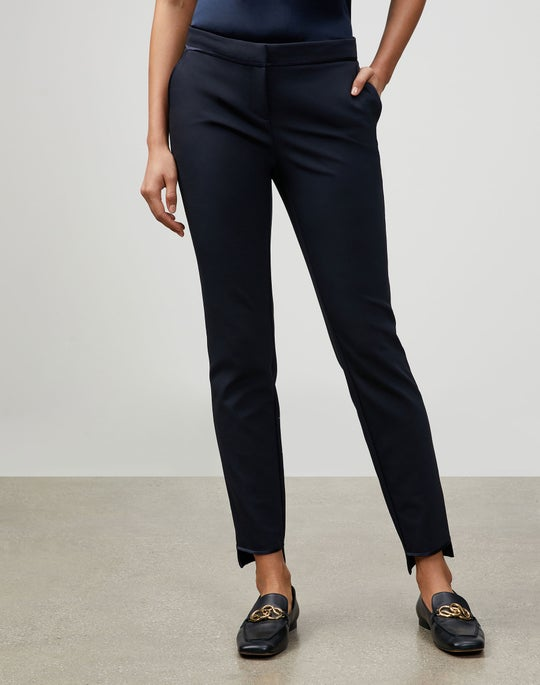 Plus-Size Acclaimed Stretch Step Hem Manhattan Slim Pant
