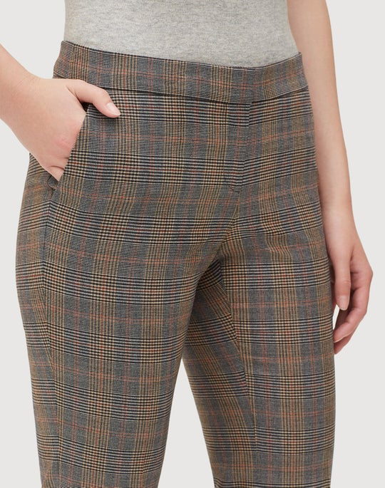 Eloquent Plaid Cropped Manhattan Flare Pant
