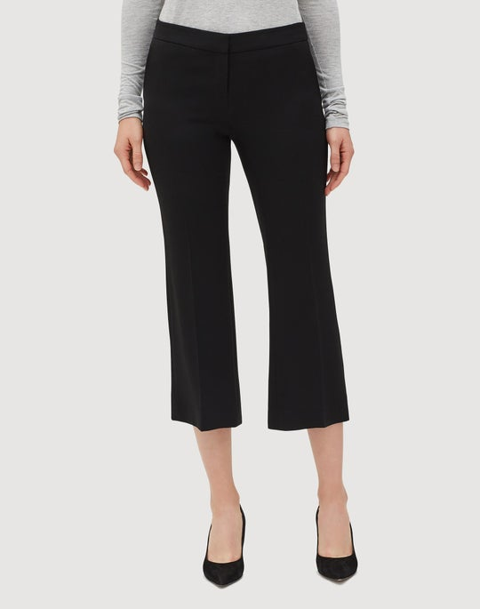 Plus-Size Finesse Crepe Cropped Manhattan Flare Pant