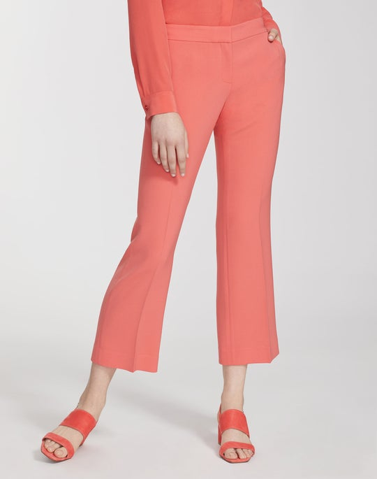 Finesse Crepe Cropped Manhattan Flare Pant