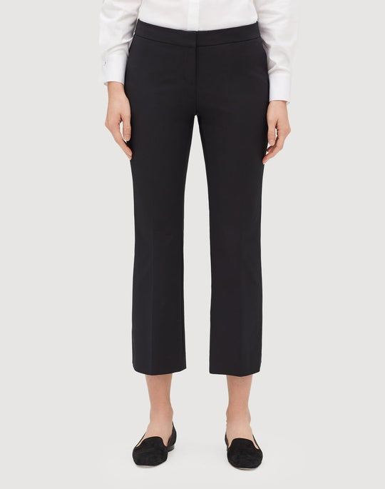 Petite Fundamental Bi-Stretch Cropped Manhattan Flare Pant