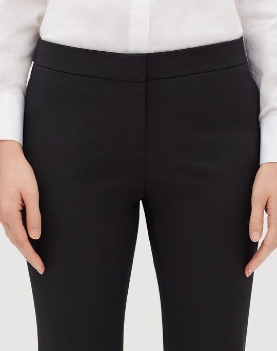 Fundamental Bi-Stretch Cropped Manhattan Flare Pant
