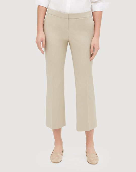 Fundamental Bi-Stretch Cropped Manhattan Flare Pant