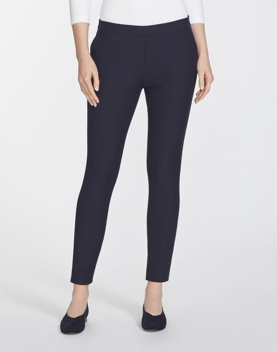 Plus-Size Italian Techno Stretch Twill Cropped Murray Pant