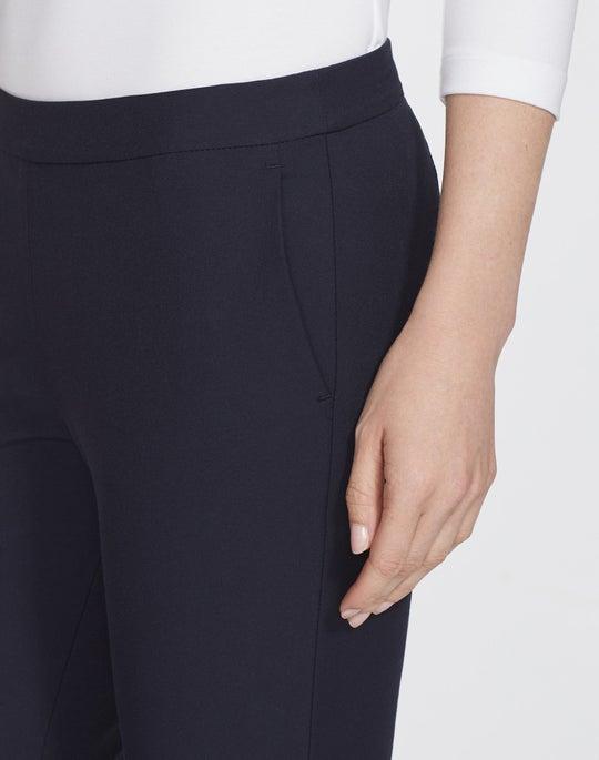 Plus-Size Italian Techno Stretch Twill Cropped Murray Pant