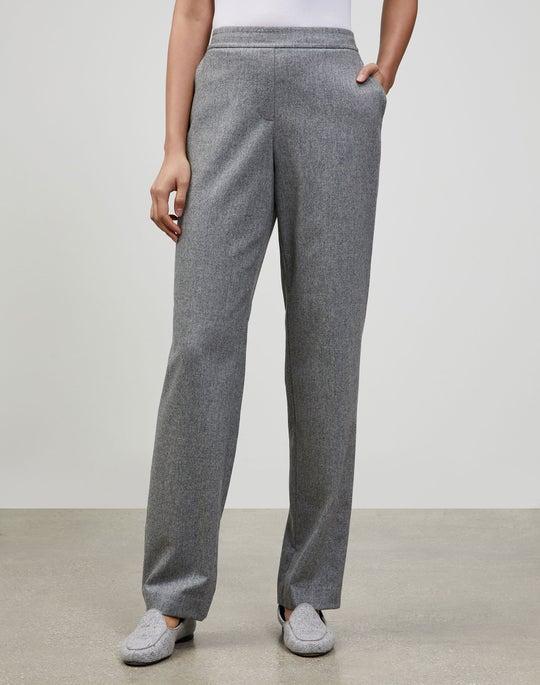 Petite Italian Lustrous Flannel Fulton Pant