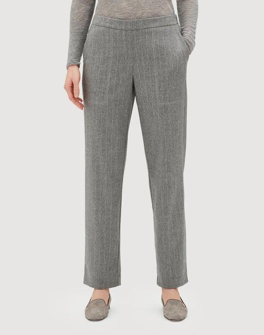 Plus-Size Glistening Pinstripe Fulton Pant
