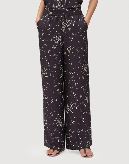 Decorative Dashes Silk Twill Hester Pant