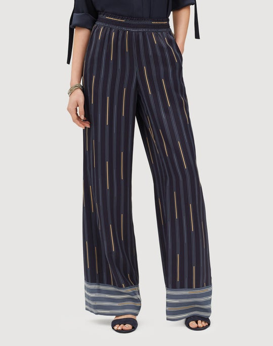 Industry Stripe Sheen Cloth Hester Pant