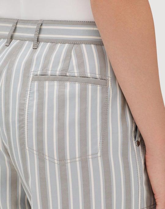 Elixir Stripe Fulton Cropped Wide-Leg Pant
