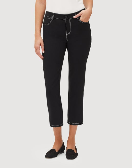 Petite Sleek Tech Cloth Cropped Mercer Pant
