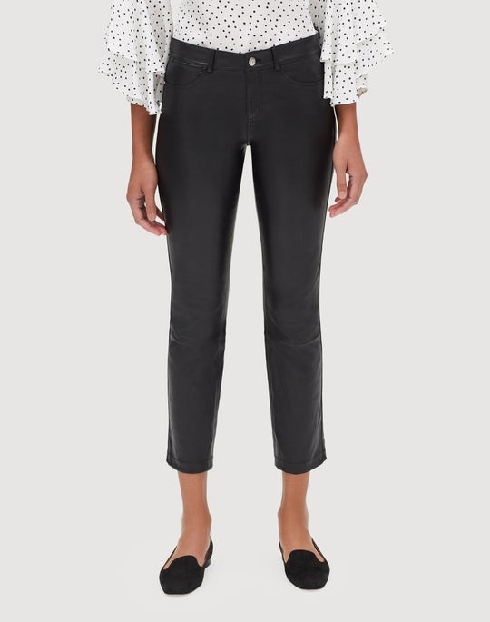 Plus-Size Silky Stretch Nappa Cropped Mercer Pant