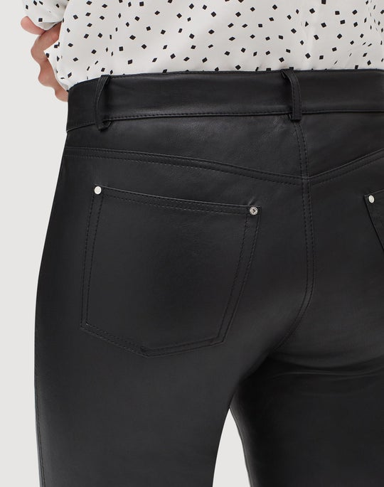 Silky Stretch Nappa Cropped Mercer Pant