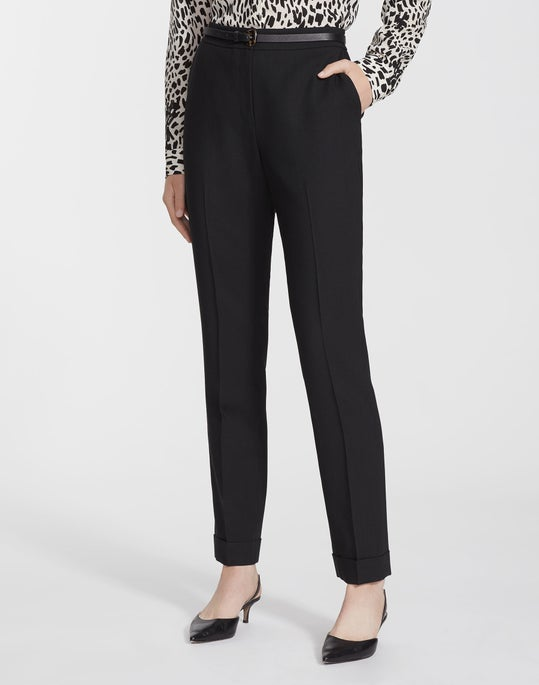 Plus-Size Masters Wool Cuffed Clinton Pant