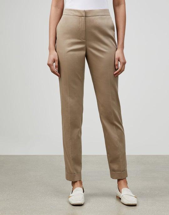 Italian Supple Cotton-Cashmere Twill Cuffed Clinton Pant